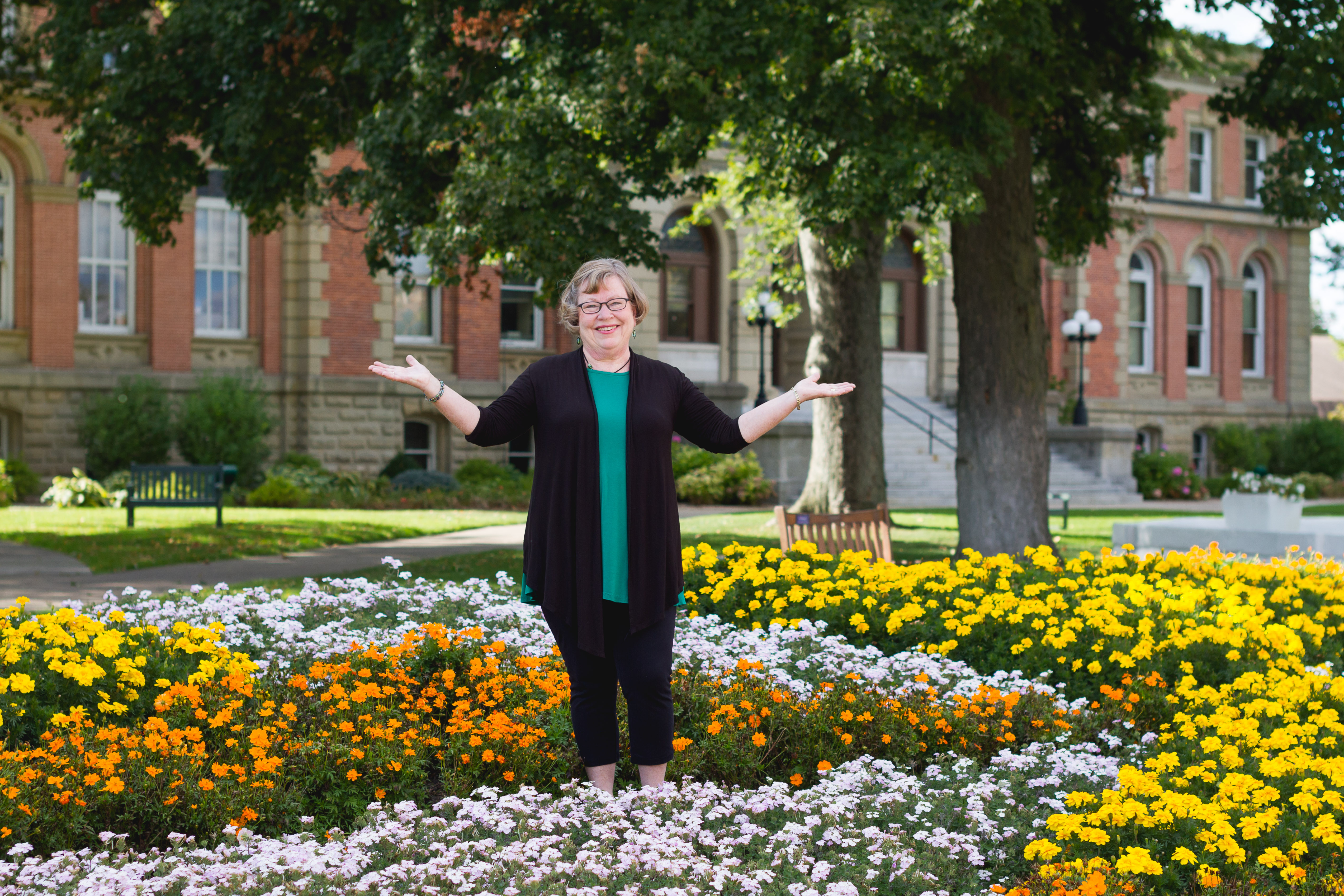 Love Where You Live: Janet Buccicone's leadership behind the beauty at downtown Goshen's Quilt Garden
