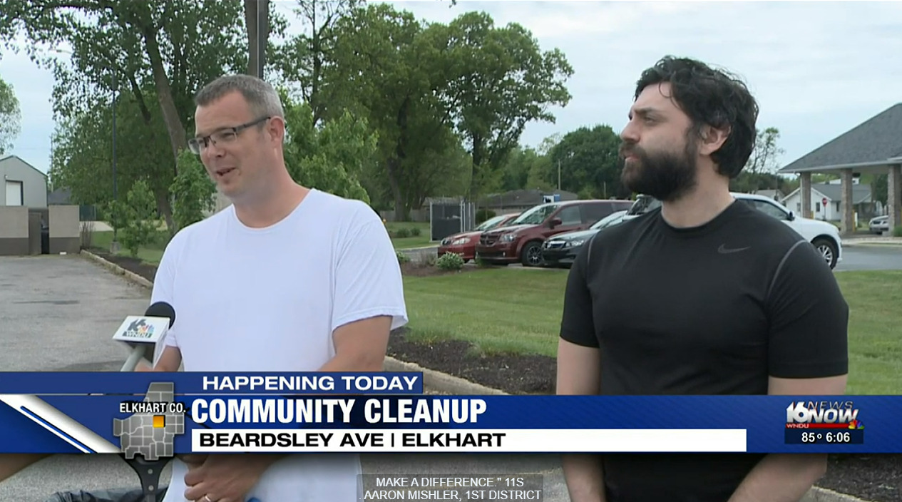 Elkhart neighborhood cleans up together for the good of everyone