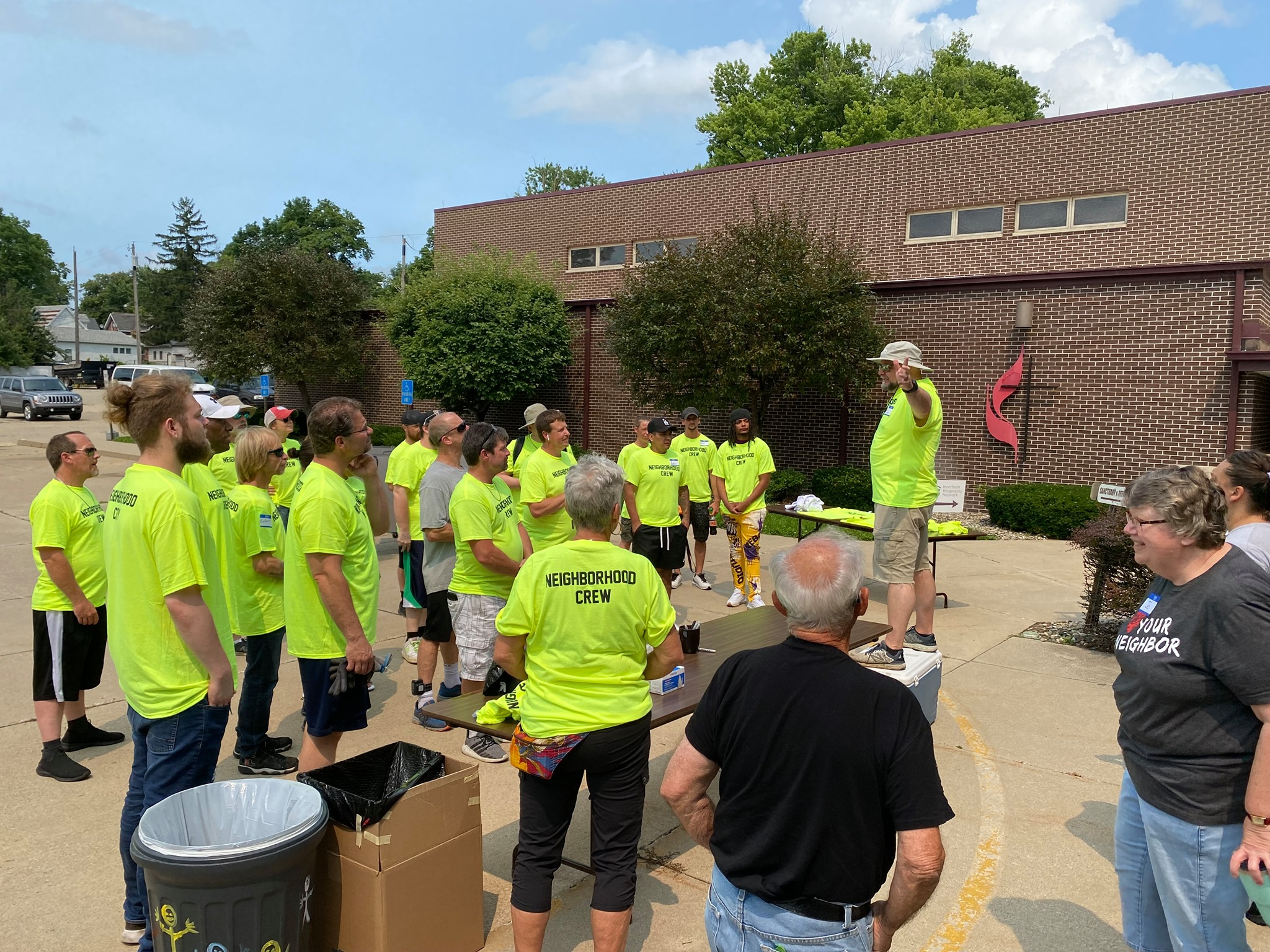 Goshen church gives back to neighborhood through clean-up, barbecue event